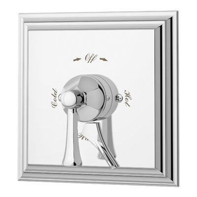 Canterbury Single Handle Shower Valve with Metal Lever Handle Finish: Chrome