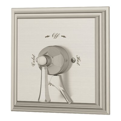 Canterbury Single Handle Shower Valve with Metal Lever Handle Finish: Satin Nickel
