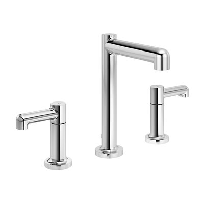 Museo Widespread Lever Handle Bathroom Faucet with Drain Assembly Finish: Chrome
