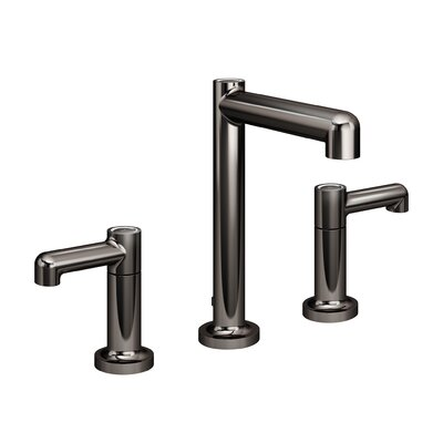 Museo Widespread Double Handle Bathroom Faucet with Drain Assembly Finish: Black