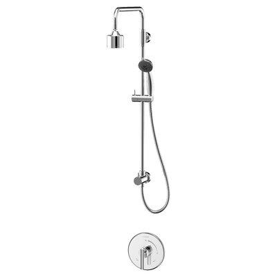 Dia Diverter Shower Faucet Lever Handles Finish: Polished Chrome