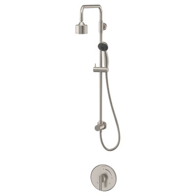Dia Diverter Shower Faucet Lever Handles Finish: Satin Nickel