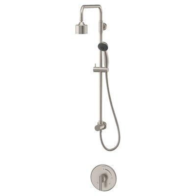 Dia Diverter Shower Faucet Lever Handles Finish: Satin Nickel