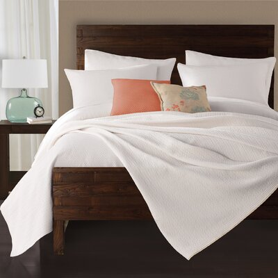 Delaney Coverlet Size: Twin, Color: White