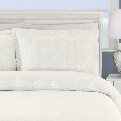 Marina Cotton Sham Size: King, Color: White