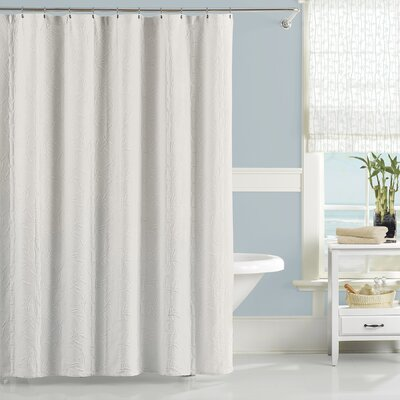 Nepal Cotton Shower Curtain Color: White