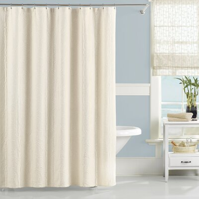 Nepal Cotton Shower Curtain Color: Ivory