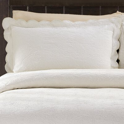 Kinsley Cotton Sham Size: King, Color: White