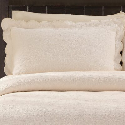 Kinsley Cotton Sham Size: King, Color: Ivory