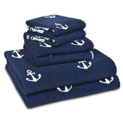 Anchors 6 Piece Towel Set