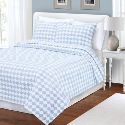 Finley Coverlet Color: Blue, Size: Full/Queen