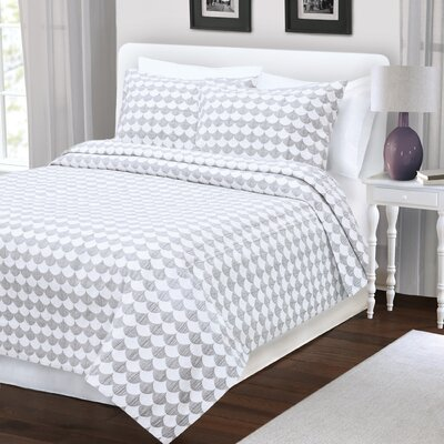 Finley Coverlet Color: Grey, Size: King