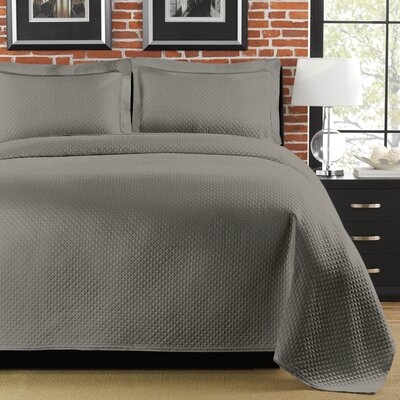Freman Coverlet Size: Twin, Color: Gray