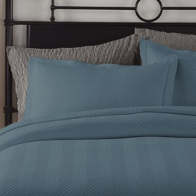 Chevron Sham Color: Tapestry Blue, Size: King
