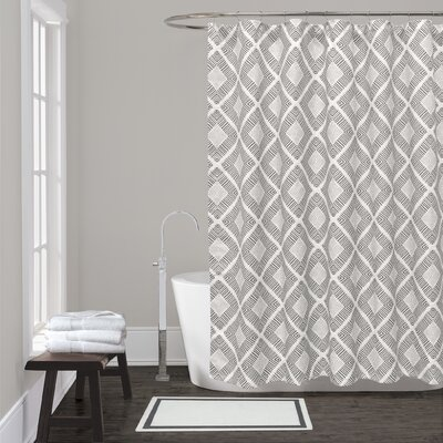 Equinox Shower Curtain Color: Grey