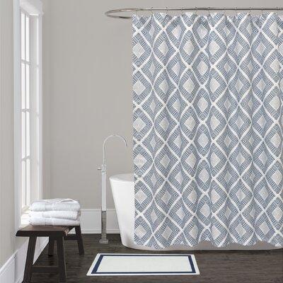 Breezewood Shower Curtain Color: Blue