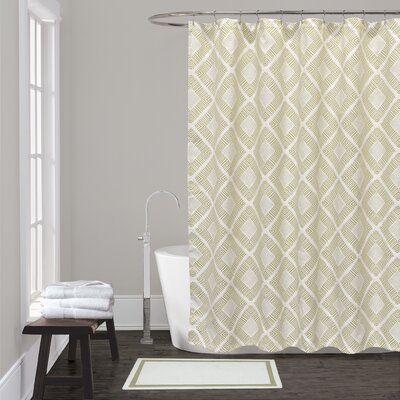 Breezewood Shower Curtain Color: Sage