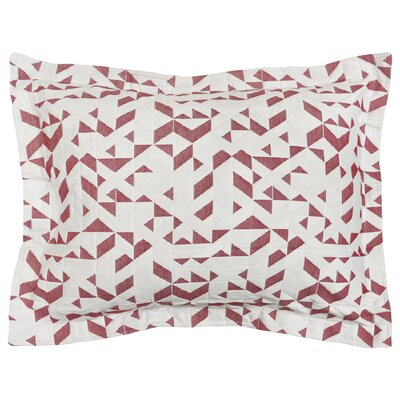 Kinetic Sham Color: White/Red, Size: Standard