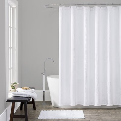 Gaetane Cotton Chevron Shower Curtain Size: Long (84 H x 72 W)