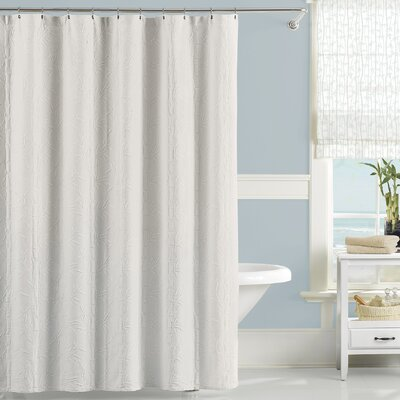 Cotton Nepal Shower Curtain Color: White
