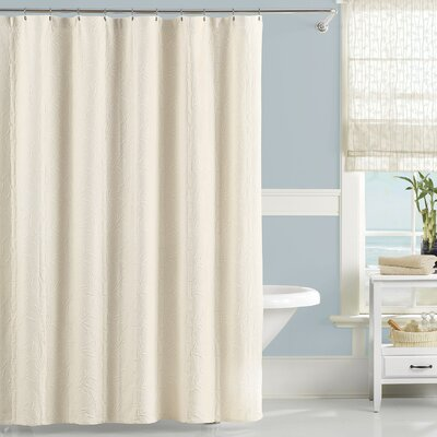 Cotton Nepal Shower Curtain Color: Ivory