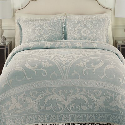 Gabriella Bedspread Size: King, Color: Blue