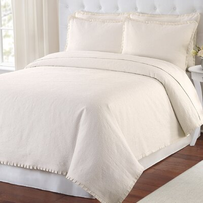 Maddie Coverlet Size: Twin, Color: Ivory