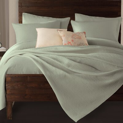 Gaetan Coverlet Color: Seafoam, Size: King