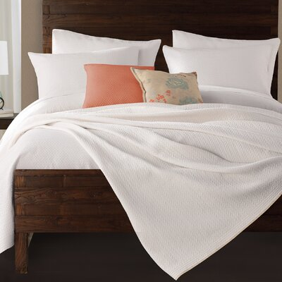 Gaetan Coverlet Size: Twin, Color: White