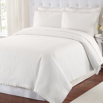Maddie Coverlet Size: Twin, Color: White