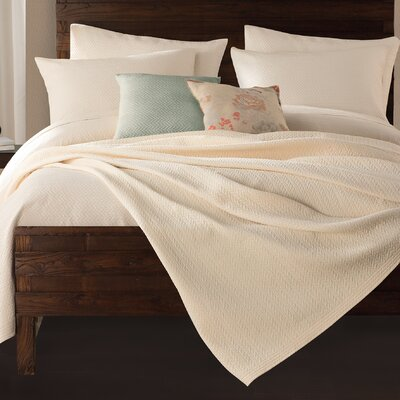 Gaetan Coverlet Color: Ivory, Size: King