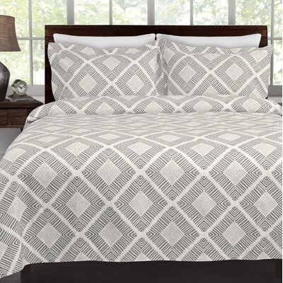 Equinox Coverlet Color: Grey, Size: Twin