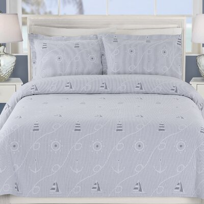 Marina Coverlet Size: Twin, Color: Blue