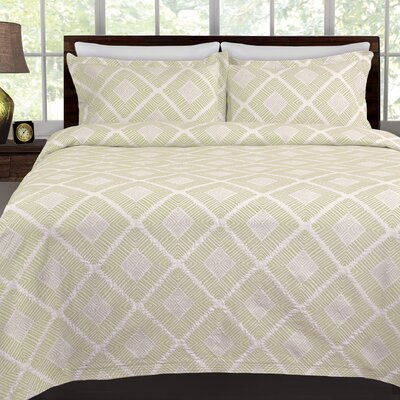 Equinox Coverlet Color: Sage, Size: Full/ Queen