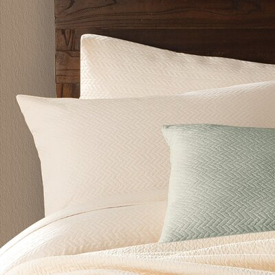Delaney Cotton Sham Color: Ivory, Size: King