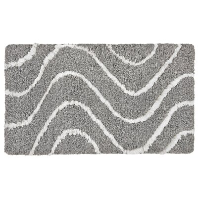 Phoenix Bath Rug Color: Blue Gray/Cream