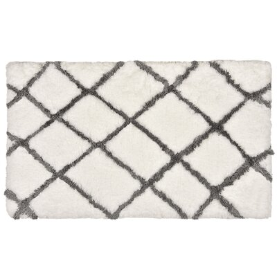 Ryker Bath Rug Color: White/Gray