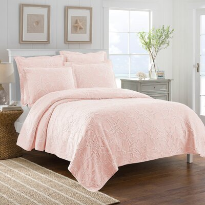 Calypso Coverlet Color: Coral, Size: Twin
