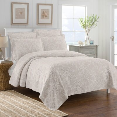 Calypso Coverlet Color: Taupe, Size: King