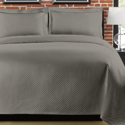 Diamante Coverlet Size: Full/Queen, Color: Gray