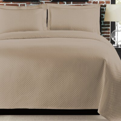 Freman Coverlet Size: Twin, Color: Taupe