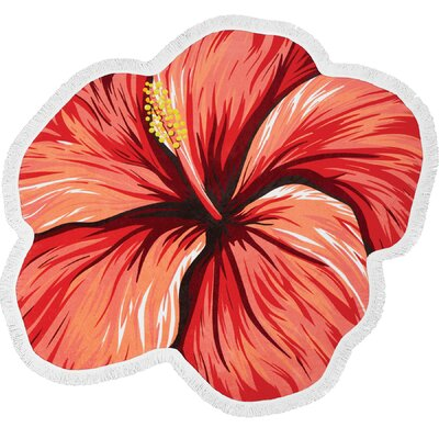 Bonfire Bay Hibiscus Sunset Beach Towel