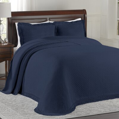 LaMont Woven Jacquard Bedspread - Size: Queen, Color: White at Sears.com