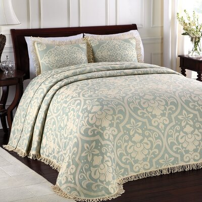 LaMont All Over Brocade Bedspread - Size: Queen, Color: Sage at Sears.com