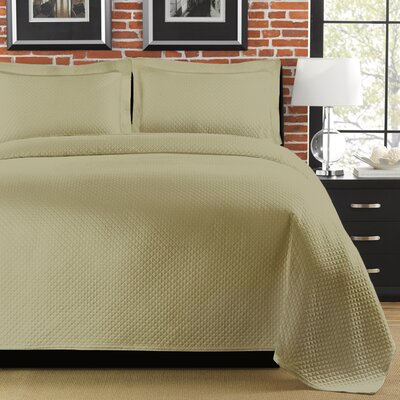 Freman Coverlet Size: Full/Queen, Color: Sage