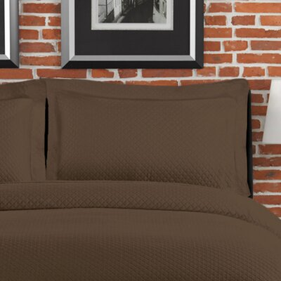 Cotton 3 Piece Coverlet Set Size: Full/Queen, Color: Brown