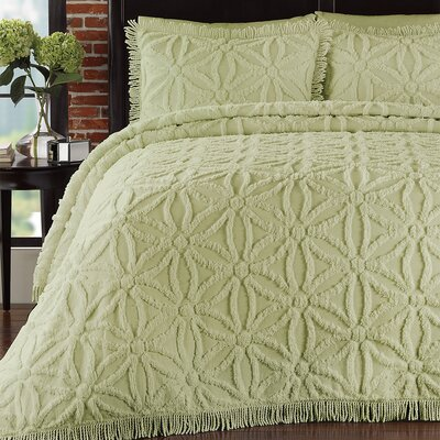 LaMont Arianna Chenille Bedspread Set - Size: Queen, Color: Honeydew at Sears.com