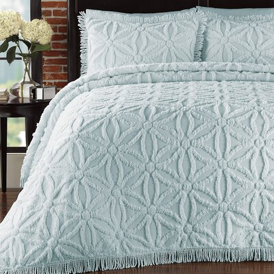LaMont Arianna Chenille Bedspread Set - Color: Pearl Blue, Size: King at Sears.com