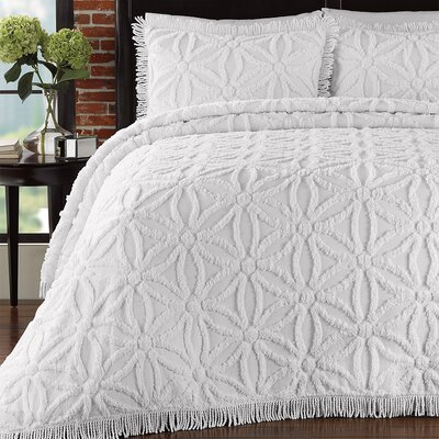 LaMont Arianna Chenille Bedspread Set - Size: King, Color: White at Sears.com