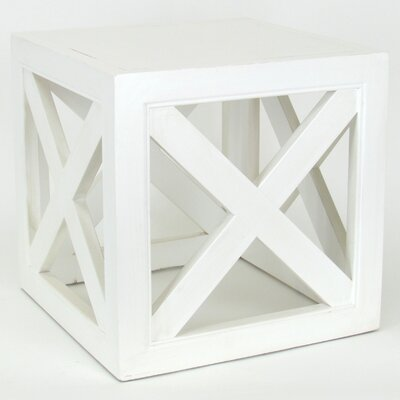 Hunter End Table Color: Whitewash